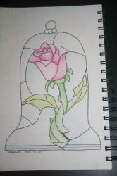 The Beauty and the Beast Stained Glass Rose by DreamCatcher1247