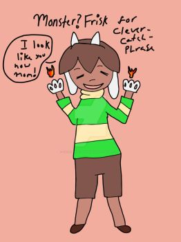 Monster Frisk for CleverCatchPhrase fanfic by FallenGreyShadow15