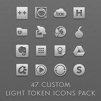 47 Custom Light Token Icons Pack by esnooze