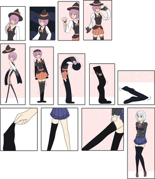 $ Thigh High Witch by DB-Palette
