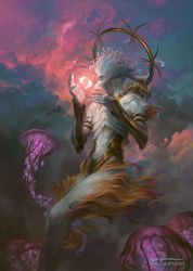 Barchiel, Angel of Pisces by PeteMohrbacher