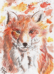 September fox painting by SulaimanDoodle
