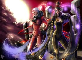 Bayonetta and Jeanne by Philiera