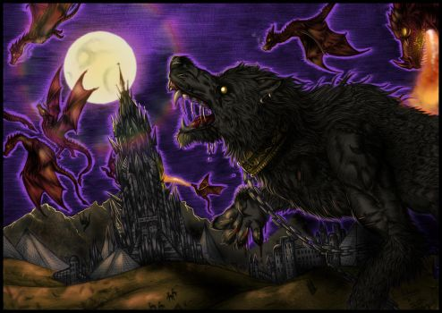 Dream with wyverns and wolf-beast by FuriarossaAndMimma