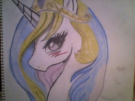 Princess Celestia Hand Drawing by Lele-Capeli