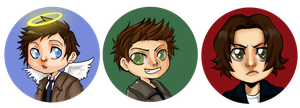 Supernatural Buttons by MidnightZone