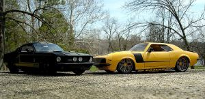 '67 Shelby Gt-500 vs '68 Chevy Camaro Z/28 by Sonic-CDX