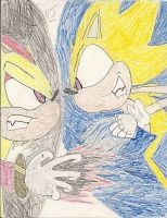 Super Shadow vs. Super Sonic by ProtoScene