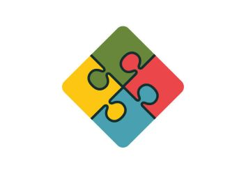Puzzle Flat Icon by superawesomevectors