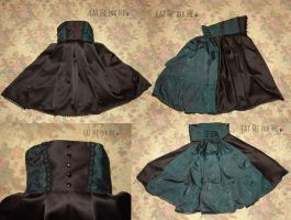 Emerald green Gothic skirt by zeloco