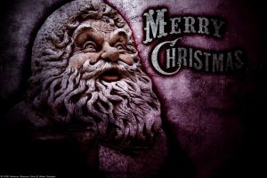 Creepy Christmas Wallpaper by RedAndWhiteDesigns