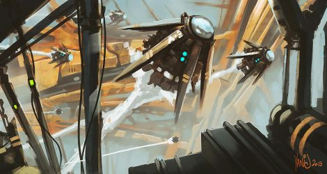Mothership speedpainting by Traaw