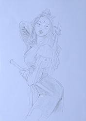 Reprise. Sketch inspired by L. Royo. by Tatooa2001