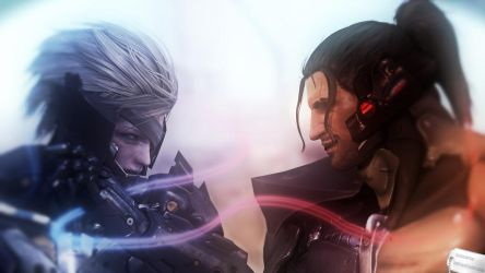Raiden vs Sam by Hiddenus