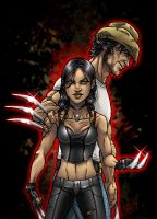 Weapon Xs: Wolverine and X-23 by djinn-world