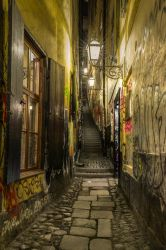 Stockholm's narrowest street by baphometgg