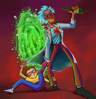 RICK AND MORTY FOREVER AND FOREVER A HUNDRED YEAR by DoctorPed