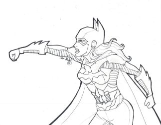 Batgirl ink by witchiamwill