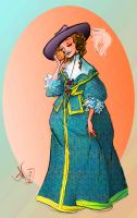 1630s girl smelling an orange by kayananas