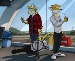 Commission: Lionkingweeb (Waiting for Takeoff) by Temiree