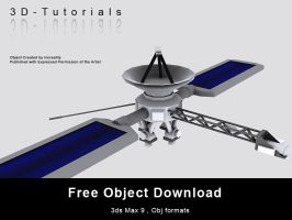 Free Satalite Object by 3d-tutorials