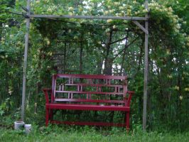Red Bench by artloverrsnp