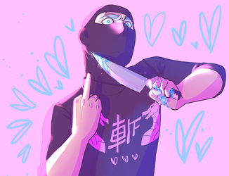 Pastel Gore Ninja Brian by ChaoticMindElectric