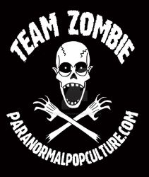 Team Zombie - white on black by Gonzocartooncompany