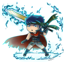 Ike chibi by LeahFoxDen