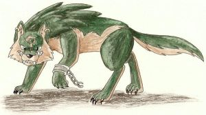 Wolf Link Watercolor by nin10do-gamer