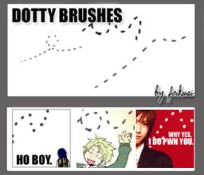 Dotty Line Brushes by thexunknown
