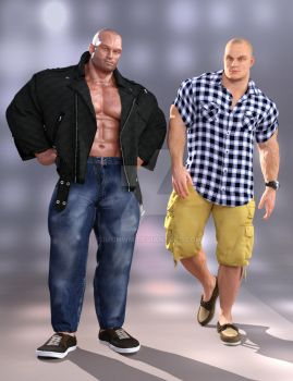 Hercules 7 and SWOLE 7 Modern clothes by SimonWM