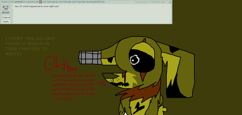 Ask Springtrap And Mangle - Ask 4 by HowlingWolfChain