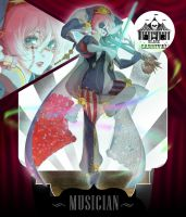 [Auction CLOSED] Black Carnival III - Musician by CemarAdopts