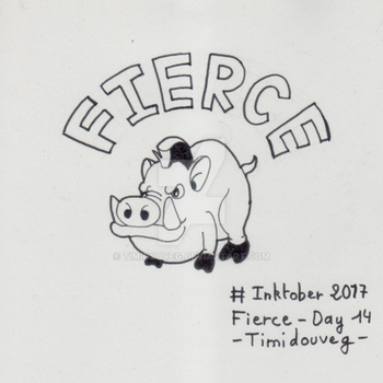 Inktober 2017 - 14 Fierce by Timidouveg