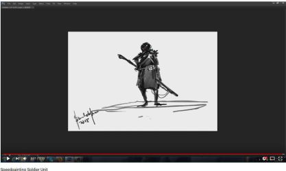 Speedpainting Soldier Unit with Video process by benedickbana