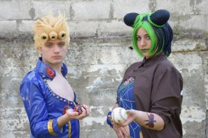 Giorno Giovanna with Jolyne Kujo by HinaNekosama