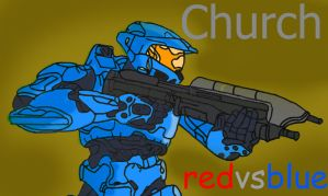 Red Vs Blue Church by TheStealthDrawings