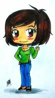 chibi self-portrait XD by vegetagirl9000