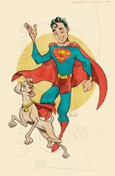 Retro Superboy by jonpinto