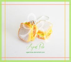 Polymer Clay Deli Sandwich Earrings by AgentRose