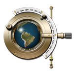 Steampunk Phopteron Earth Globe Icon by yereverluvinuncleber