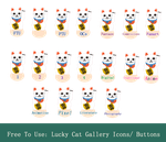 Lucky Cat Gallery Icons Sheet by HaruRyomaru86