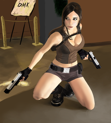 Lara Croft by SadManDmk