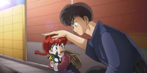 Baby Ranma Chan and Kuno by Hainfinkle