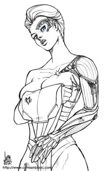 Seven of Nine Sketch by transfuse