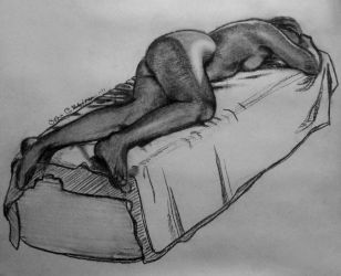 life drawing woman by omppu