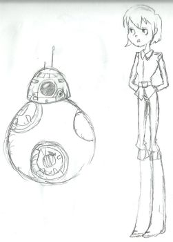 BB-8 and this woman by Bloodhoundgal101