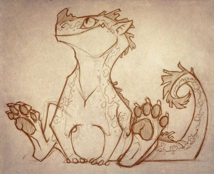 Little dragon sketch by TheTundraGhost