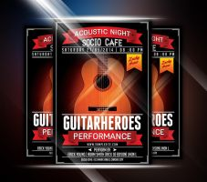 Guitar Heroes Flyer by afizs